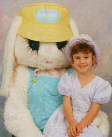 picture of easter bunny and girl